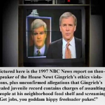 Romney and NBC in shark fight; Gingrich remains douche-bag